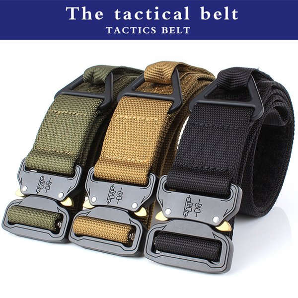 Professional Outdoor Sports Equipment Adjustable Nylon Tactical Belt Black/Green/Brown Function Pearl Fabric Zinc Alloy Safety Clasp