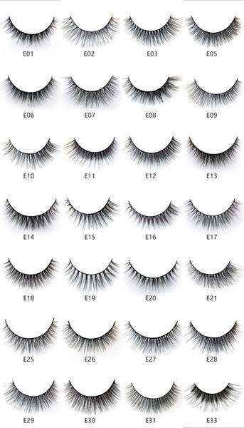 28 models of the E series 5pairs/set False EyeLashes 5 Pairs 3D Natural Long Fake Eyelashes Handmade Makeup Tools Accessories free shipping