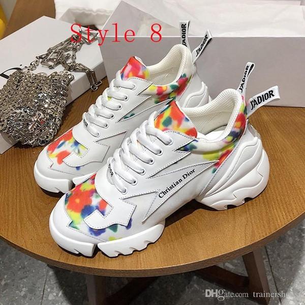 2020 nouvelles femmes luxe chaussures de sport plateforme de mode chaussures de sport de tennis en cuir SHON bas-top chaussure de course en plein air Chaussures de sport