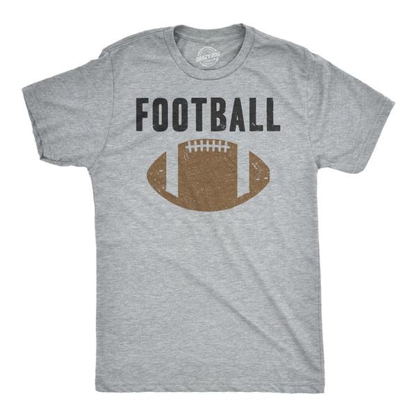 Mens Vintage Football Texte Sports Football Distressed Lacets Sporty T-shirt D'été Été T-shirt Au Cou, Livraison Gratuite T-shirt Pas Cher, 2019 Hot Tees