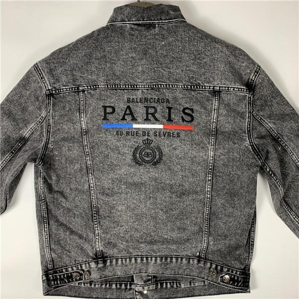 19ss nuovo arrivo Parigi marchi di lusso BLCA giacca di jeans casual ponticelli uomini donne Coat Giacchette sportive Streetwear Pullover maglione con cappuccio