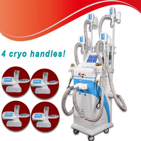 4 Cryo Treatment Cryotherapy Fat Freezing Cold Slimming Ultrasonic Cavitation Cellulite Removal Body Contour Cryolipolysis Slimming Machine