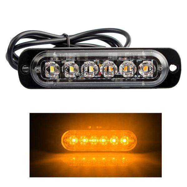 9V-40V 18W LED voiture camion Gyrophares rectangulaire 1000lm étanche IP67 d'urgence Gyrophare Danger stroboscope Lumière