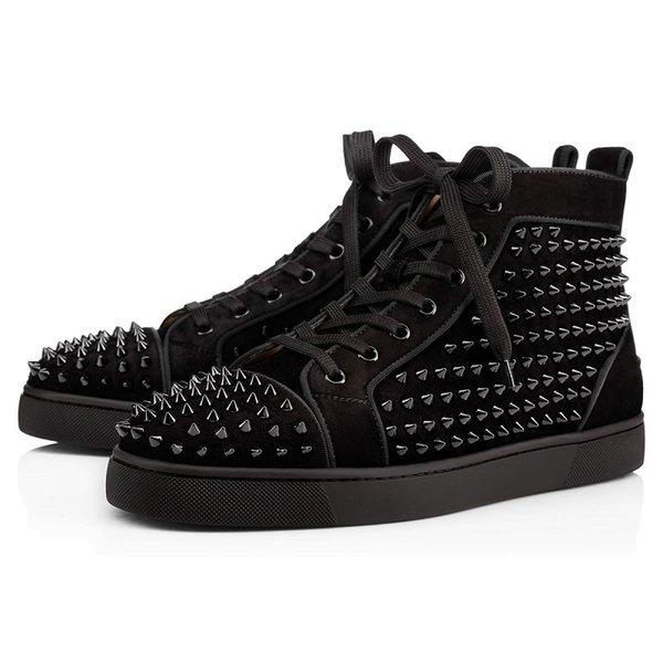 Black Suede Spikes