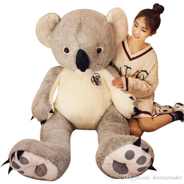 Dorimytrader Giant Animal Koala Plush Toy Large Stuffed Cartoon Koalas Doll Kids Play Toys Lover Gift 35inch 47inch 55inch DY61658