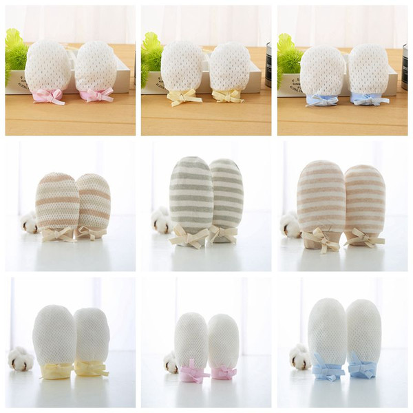 Newborn Baby Mittens No Scratch baby gloves Home Textile Newborn Mittens with Anti Falling Strap for Infant