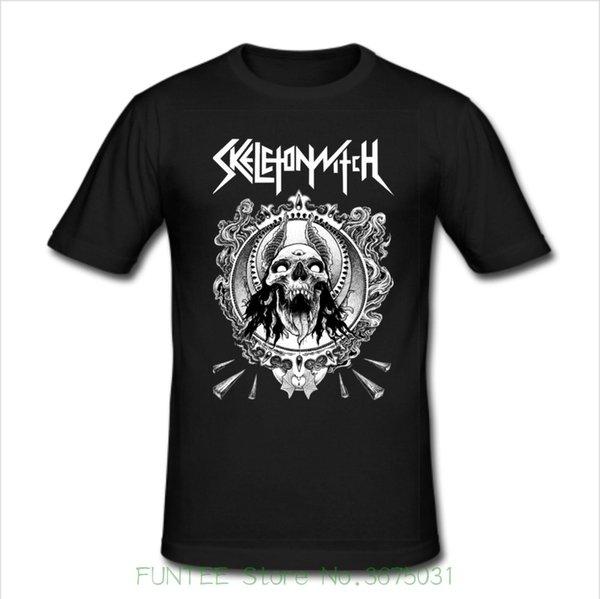 Printed Round Men Tshirt Cheap Price Men's Slim Fit T Shirt Size S M L Xl 2xl 3xl Skeletonwitch Metal Band