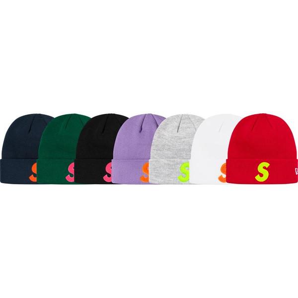 19FW Yeni S Logo Beanie Nakış Pamuk Soğuk Cap Moda Sıcak Rahat Hat Çift Kadınlar Ve Erkekler Tasarımcı Şapka HFXHMZ006
