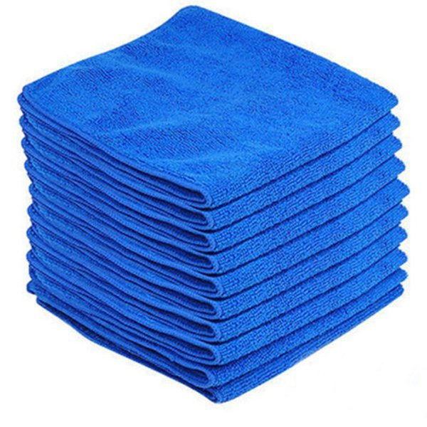 Microfiber Towel Cleaning Cloth 20*20cm Quick Dry Towel Absorbent Scouring Pad Car Auto Wash Clean Tool
