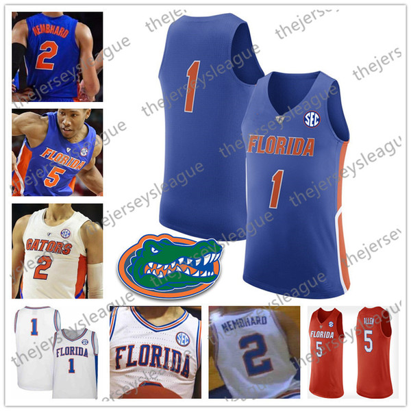 the latest 47d8b abe79 2019 Custom Florida Gators Any Name Number Stitched 2019 Retro White Blue  Orange NCAA Basketball Jerseys S 4XL #5 KeVaughn Allen 3 Jalen Hudson From  ...