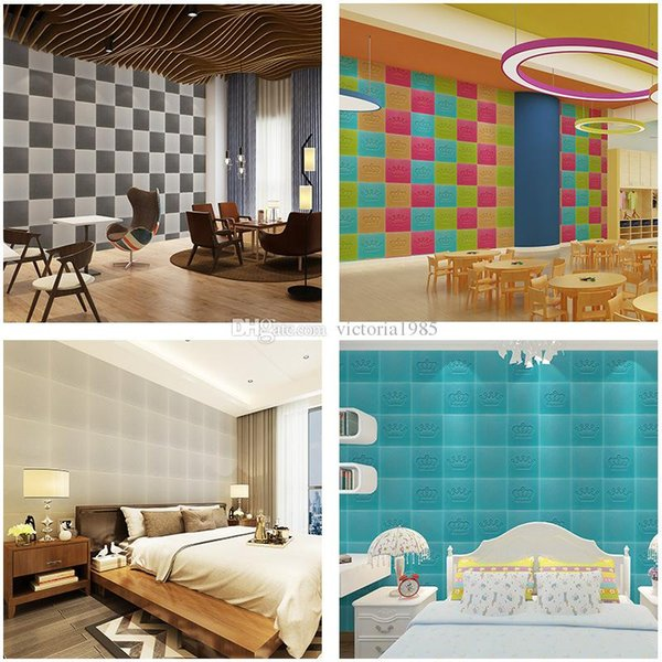 3D Wall Sticker Waterproof odor-free 30X30*0.8cm environmental PE Foam Decor Wallpaper DIY Brick Exhibition home hall DecorativeVC06