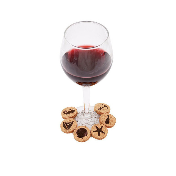 Cork Glass Charms DIY Goblet Wine Glass Rings with Wire Hoop Drink Markers for Parties Holidays QW9992