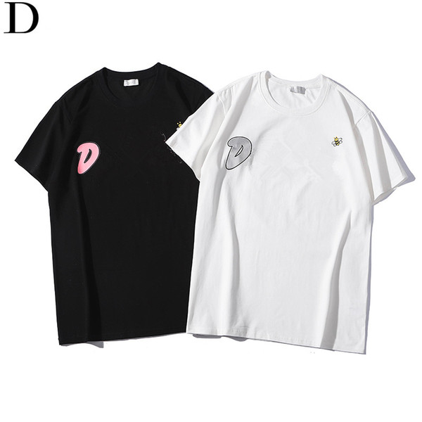 Summer Design Cool Clothing Men Women Hip Hop Polos Fashion Bee Letter Printing T-shirts Round Collar Short Sleeves S-2XL Tops Tees