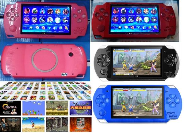 Pantalla de consola de juegos portátil PMP X6 de 4.3 pulgadas para PSP Game Store Juegos clásicos Salida de TV Reproductor de videojuegos portátil 8GB