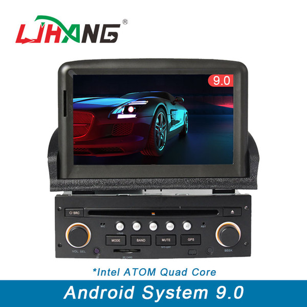 1 din Auto-DVD-Player Android 9.0 für Peugeot 307 Bluetooth-Lenkradsteuerung RDS GPS Automotive Navi Multimedia WIFI