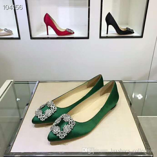 Spring/summer 2019 collection,Diamond silk classic flat sandals,Italian leather outsoles women shoes ,heel-height 7 cm