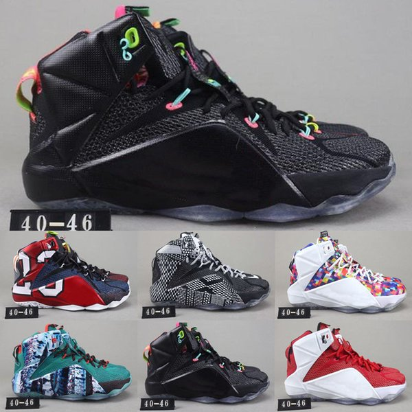 Sale Hot What The LeBron XII 12 P.s Elite Xii Bhm Rainbow South Beach Baby Kids Sports Basketball Shoes 12s Men Walking Jogging Sneakers