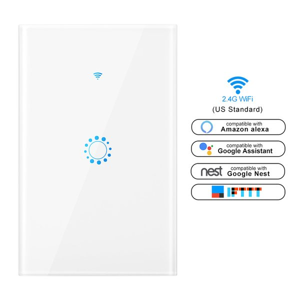 Smart touch Light Switch US Standard 1 2 3 Gang Interruptor 110V wifi Wireless Ewelink app Remote Control Switches Wall Switch
