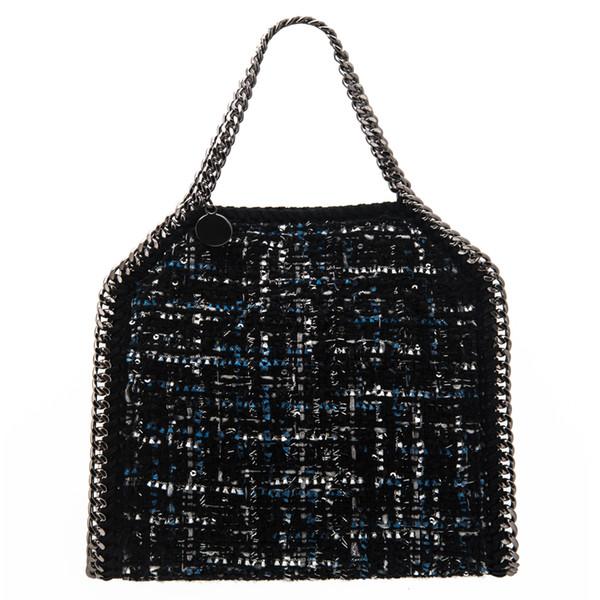 Estelle Wang malha Projeto Bolsa Cadeia Inverno Crossbody Bag Mulheres Algodão Bolsas de Ombro Fold Vintage Mais Purse pequeno