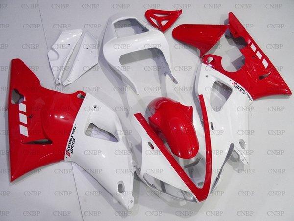 para YAMAHA YZFR1 2000 Kits de cuerpo entero YZFR1 2000 - 2001 Kits de carenado blanco rojo YZF1000 R1 01 Carenados de plástico