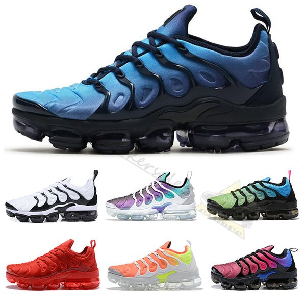 TN Plus Size US 13 Mens Shoe 2019 Sneakers Breathable Reverse Sunset Desingers Running Shoes New Arrival Color Bumblebee Be True Grape