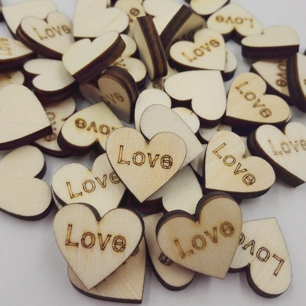 100pcs Rustic Wooden Love Heart Mr. Mrs. Just Married Wedding Table Scatter Decoration Wood Crafts 2019 New Arrival