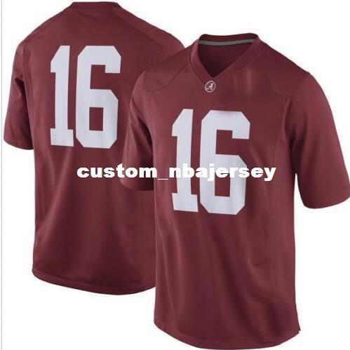 Cheap wholesale #16 Alabama Crimson Tide Football Jersey New!! Sewing custom any number name football jersey