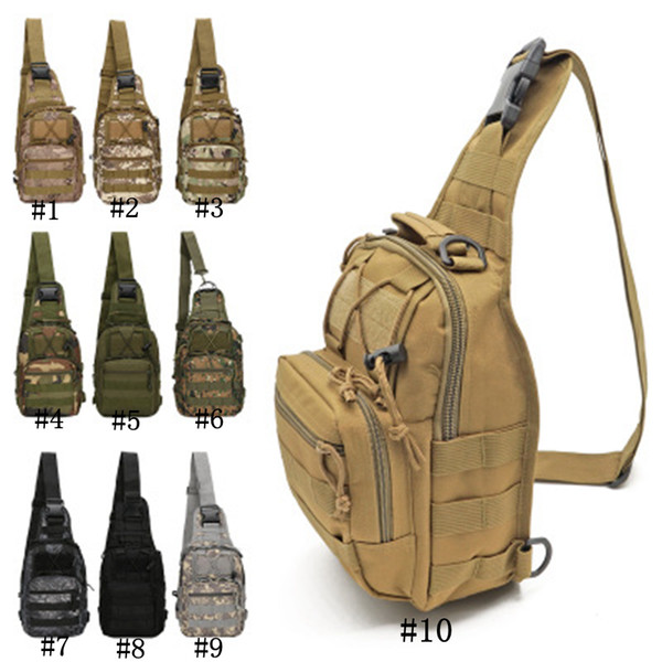best selling Outdoor sports riding bag Travel waterproof Oxford cloth sports camouflage chest bag Tactical shoulder men's cycling bag ZZA295