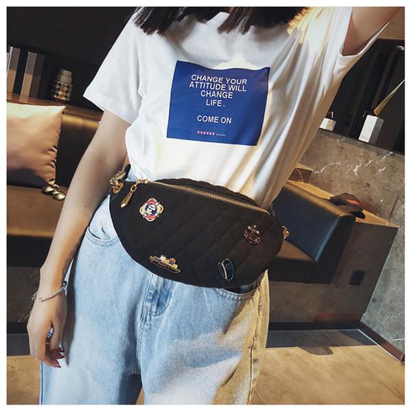 Designer Luxury Borse Borse Designer Marsupio MENS Womens New Badge Busto petto Piccolo Mini Fashion Waistbag Fabbrica Hot Girls Bags Hot