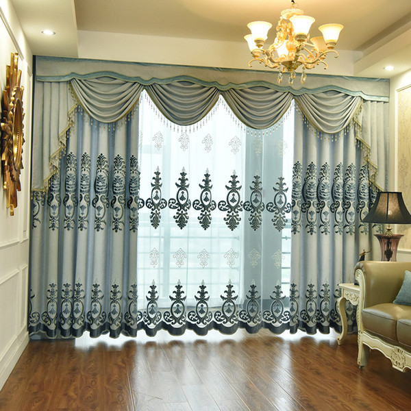 2019 Curtains For Bedroom Jacquard Chenille Valance Swag Embroidery  Curtains For Living Room New European Curtain Fabric Gentle From Aozhouqie,  $38.92 ...
