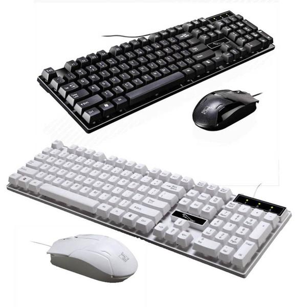 Q17 Ordinateur de bureau USB filaire clavier universel et souris installés Ensemble souris et ensemble de clavier Accessoires informatiques