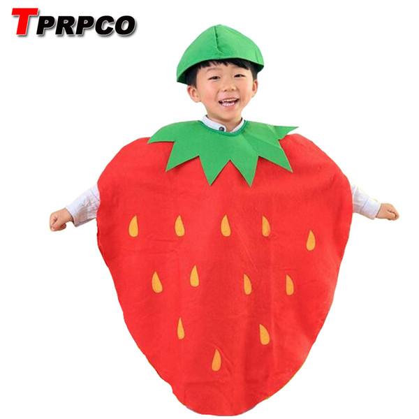 Children Kids Halloween Party Children's Day Cartoon Fruit watermelon/Strawberry/apple Costumes Cosplay Clothes Boy Girl NL749