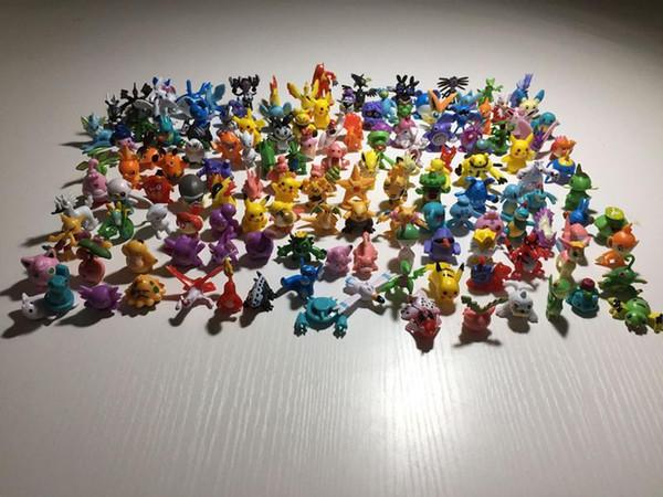 144 PCS Monster Pikachu Jouets PVC de Bande Dessinée Cosplay Films Action Figure Décoration Poupée Jouets Enfants Enfants Cadeaux 3 CM