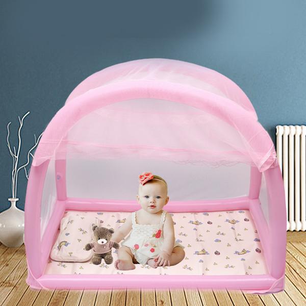 Cama de bebé Niños Niños Pequeños Viajes portátiles Cuna para bebés recién nacidos Dormir Cama para niños con mosquitera Ropa de cama Cuna Nido