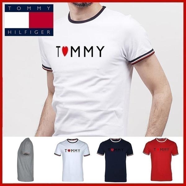 2019 new high-end fashion couple short-sleeved lapel T-shirt POLO shirt 06095