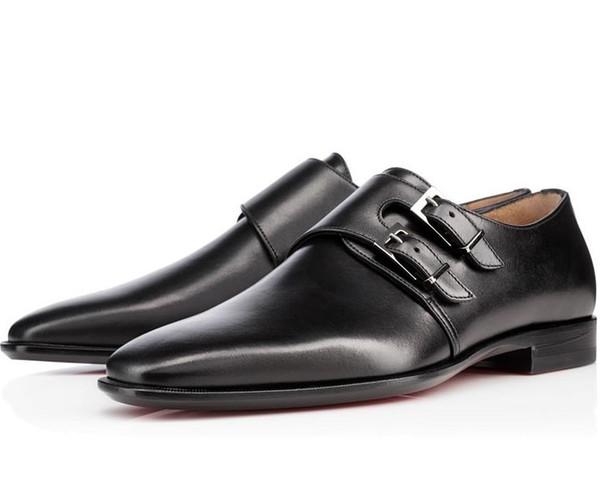 Tasarımcı Moda Kırmızı Alt Ayakkabı Greggo Orlato Düz Hakiki Deri Oxford Erkek Yürüyüş Daireler Düğün Parti Loafer'lar çivili elbise ayakkabı C8