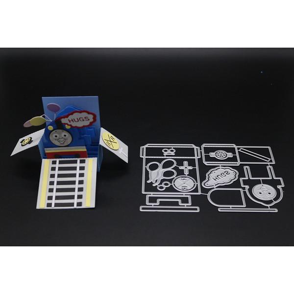 wholesale METAL CUTTING DIES Smile Frame Card Box scrapbook PAPER CRAFT card album gift present knife mold art cutter