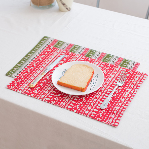 Dining Dish Place mats Kitchen Washable Table mats Decoration Heat Insulation Placemats 45x30cm Anti-skid Woven Vinyl Bowl Placement