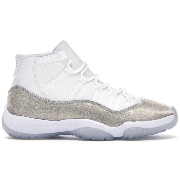 4 White Metallic Silber