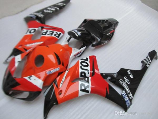Carénages en plastique ABS moulé par injection pour HONDA CBR1000RR 06 07 kit carénage orange noir CBR1000RR 2006 2007 OT23