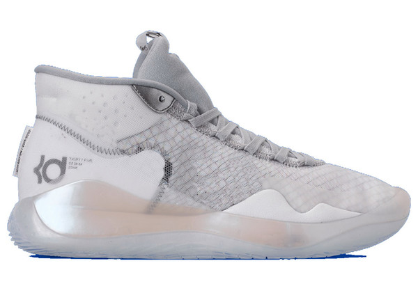 Store KD 12 Wolf Grey shoes for sales With Box Best Kevin Durant 12 Basketball shoes Wholesale prices free shipping US7-US12