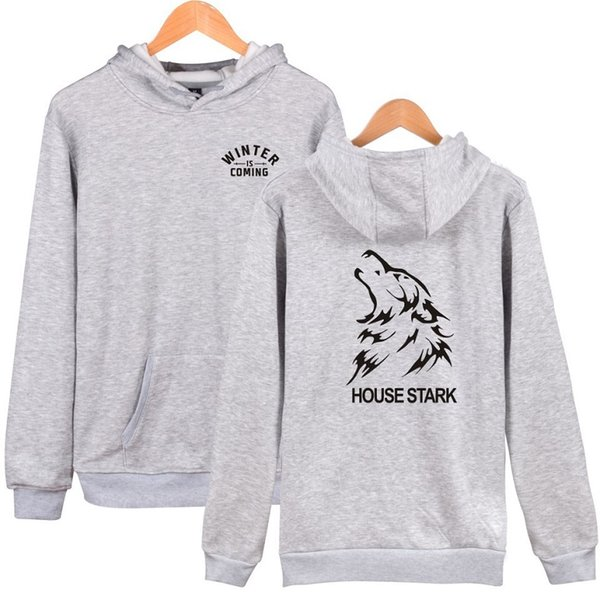 Casual Hoodies cotton material Lovers Sweatshirts HOUSE STARK printing Leniency Pullover Keep warm Leisure wear sport sweater Autumn Hoodie