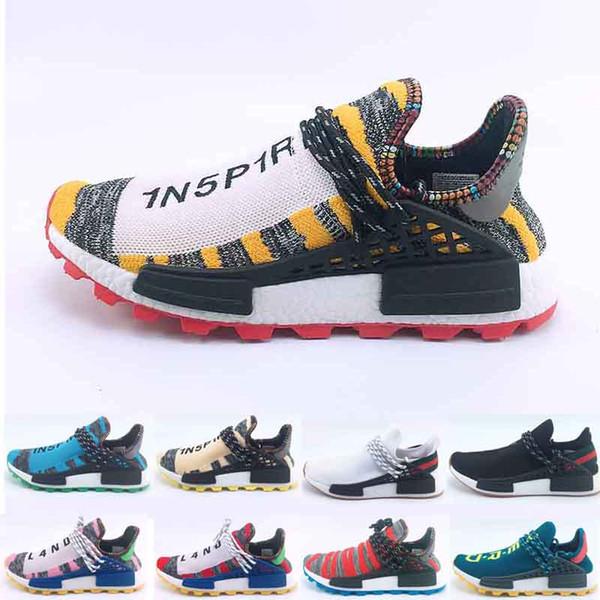 Haute Qualité Nouvelle Course Humaine Pharrell Williams Hommes Femmes Chaussures De Course Discount Pas Cher Sneaker Chaussures De Sport