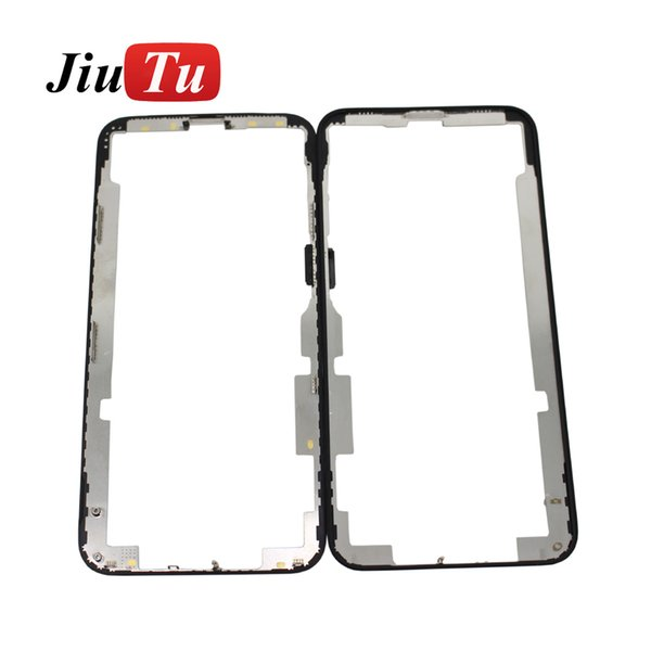Bezel Frame For iPhone XS Front Glass Touch Screen Lens Outer Panel Cover LCD Display Repair Part Jiutu