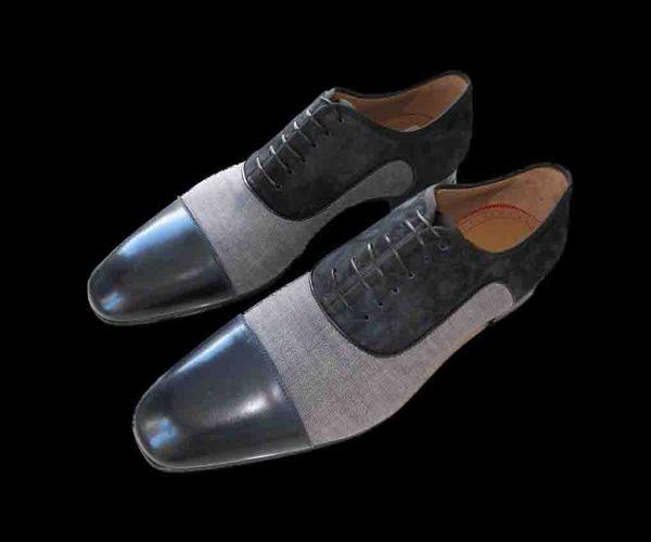 Chaussures de mariage en gros de marque de luxe de fond rouge de partie des hommes de luxe de concepteur NOIR de cuir verni de chaussures habillées de suède pour les hommes glissent sur des appartements