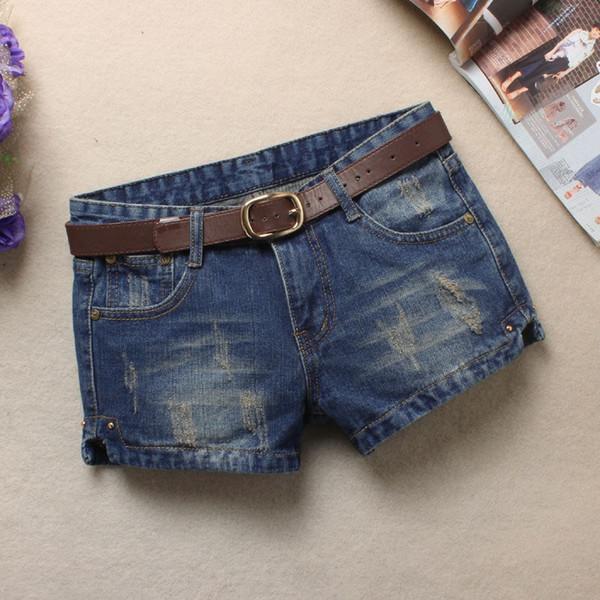 Summer Denim Shorts For Women Sexy Mini Shorts Casual Women Low Waist Without Belt Denim