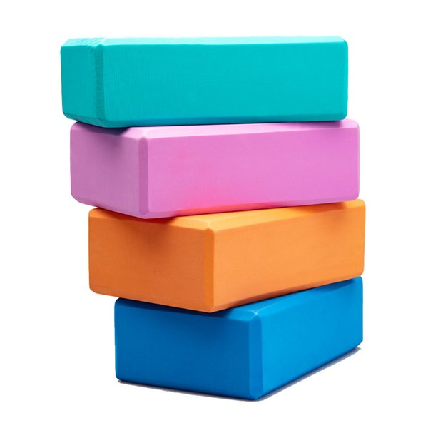 EVA Yoga Block Foam Brick Gym Exercises Pilates Fitness Tool Workout Stretching Aid Body Shaping Health Training 2PCS Kids Women