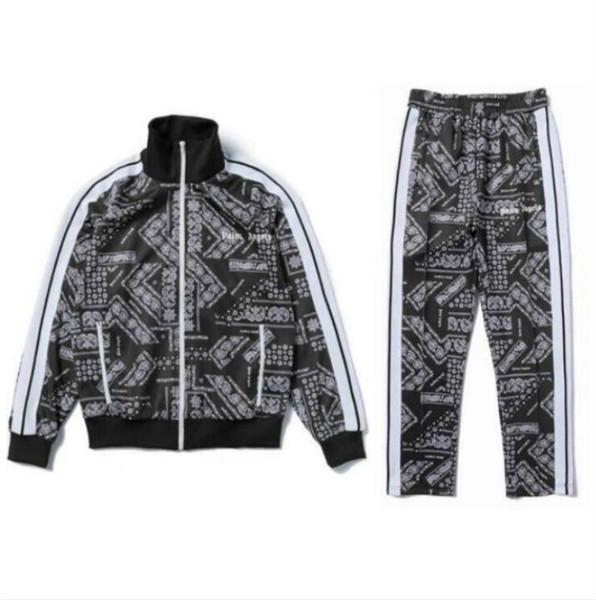 Autunno Mens Tute Designer con il palmo Angeli Printting modo di marca tute sportive per gli uomini Streetwear topsPants corso vestiti dei vestiti