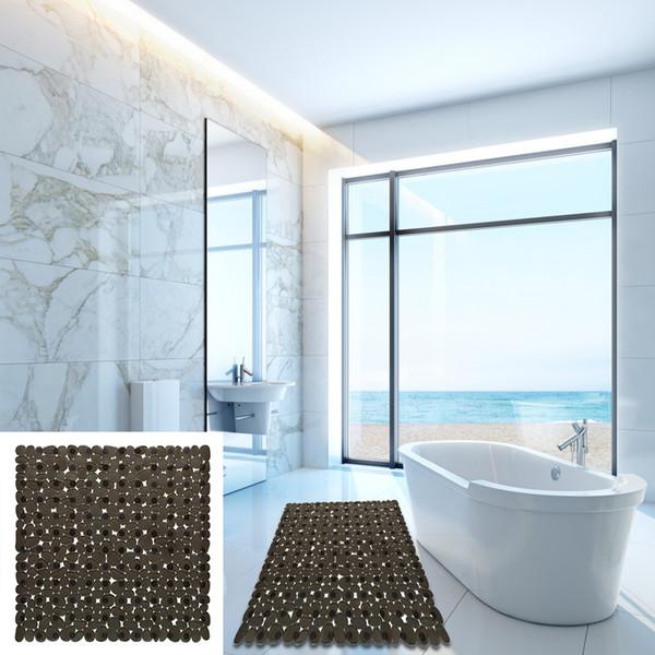 Empresa Home Kitchen Anti Slip Tasteless Estável Hotel Bath Mat Praça flexível Duche Cobblestone suave Prático