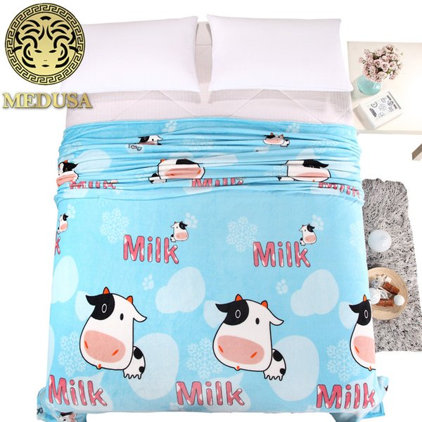 home textle,outlet fashion cartoon flannel/flano home/picnic/travel blanket/throws/bedspread/king/queen size bed/cow